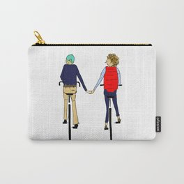 BIKE LOVE hand holding Carry-All Pouch