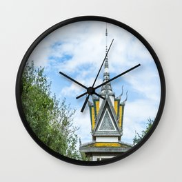 Killing Fields Memorial Stupa, Cambodia Wall Clock