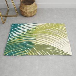 Palm Silhouette Series - Hawaiian Greenery Palette Rug