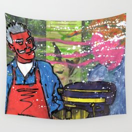 Demon Jaques and the Julia Specter Wall Tapestry