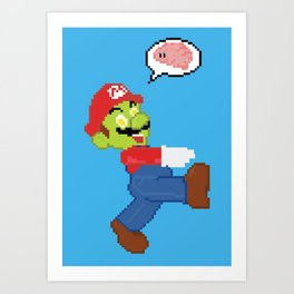 Brains on the Brain Art Print