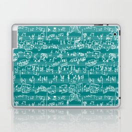 Hand Written Sheet Music // Teal Laptop & iPad Skin
