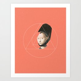 NOT Portrait of a Young Girl Art Print