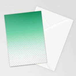 Modern forest green gradient pastel polka dots Stationery Cards