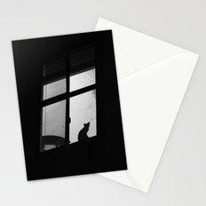 night window Stationery Cards