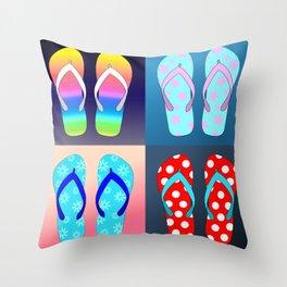 Flip Flop Pop Art Throw Pillow