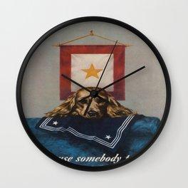 Vintage poster - Loose Lips Wall Clock