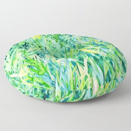 Jungle green watercolor Floor Pillow