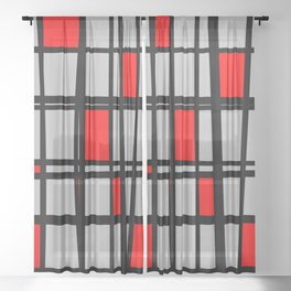 Gridlock - Abstract Sheer Curtain