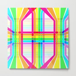 Weaved Rainbow Metal Print