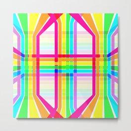 Weaved Rainbow Metal Print