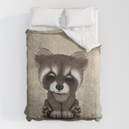 Cute Baby Raccoon Comforters