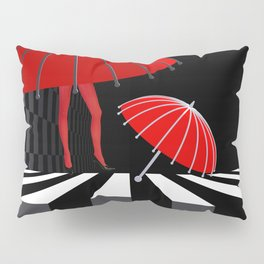 when the umbrellas learned walking Pillow Sham