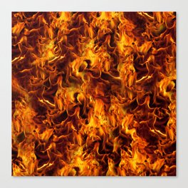 Fire and Flames Pattern Canvas Print