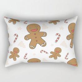 Cute gingerbread man seamless Rectangular Pillow