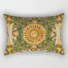 """""""Floral Aztec calendar"""" Rectangular Pillow"""