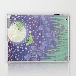 Moonlit stars, luna moths, snails, & irises Laptop & iPad Skin
