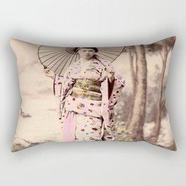 Japanese girl with parasol Rectangular Pillow