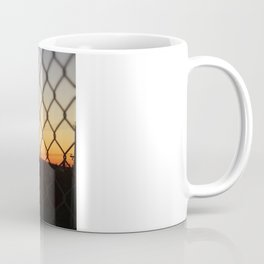 Sunset over the Fence Coffee Mug