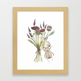 Beetle and Flowers No. 1 Framed Art Print