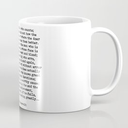 Man In The Arena Theodore Roosevelt Quote Coffee Mug