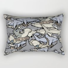 Save ALL Sharks!  Rectangular Pillow