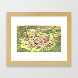 "EarthBound ""Onett"" (Day) Framed Art Print"