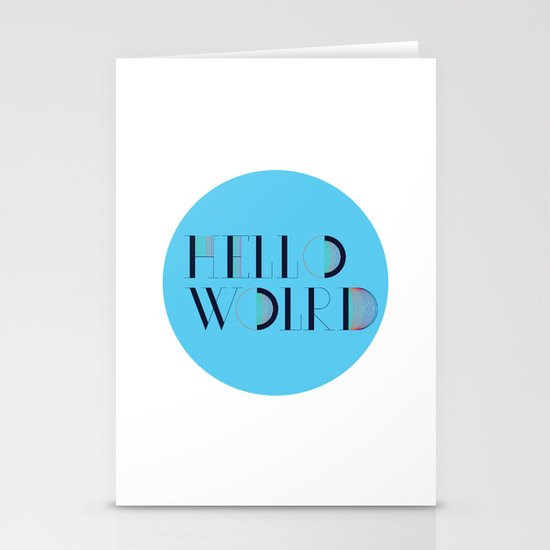 Hello World | Comp Sci Series Stationery Cards