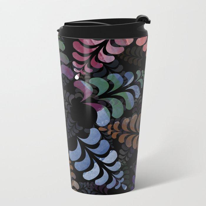 pattern 8 Metal Travel Mug