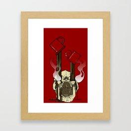 Skull Fuel Framed Art Print