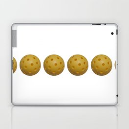 Yellow Pickleball Balls In A Row Laptop & iPad Skin