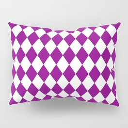 Rhombus (Purple/White) Pillow Sham