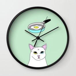 Fat D. Loves Fried Egg Wall Clock