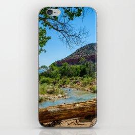 Virgin River at Zion iPhone Skin