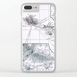 Vintage Hawaii Map 1899 Clear iPhone Case
