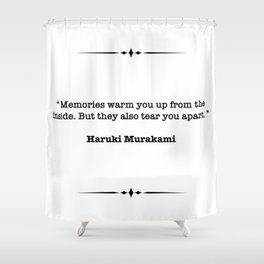 Haruki Murakami Quote Shower Curtain