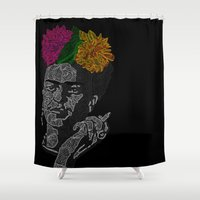 frida kahlo Shower Curtains featuring FRIDA KAHLO by Giada Mantione