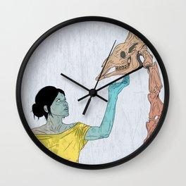 do not touch dead animals - giraffe Wall Clock