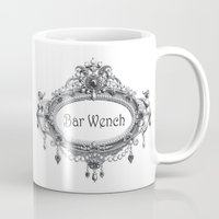 bar Mugs featuring Bar Wench by Andrea Jean Clausen - andreajeanco