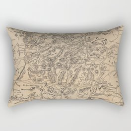 Vintage Map of The Adirondack Mountains (1880) V.2 Rectangular Pillow