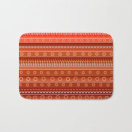 Abstract in orange Bath Mat
