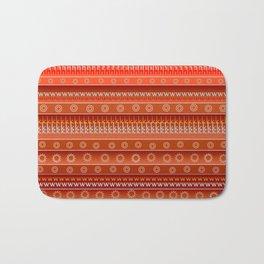 Abstract in orange Bath Mat