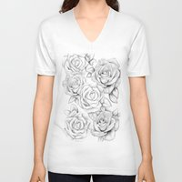 roses V-neck T-shirts featuring roses by iphigenia myos