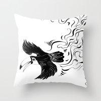 toucan Throw Pillows featuring Toucan by Goob
