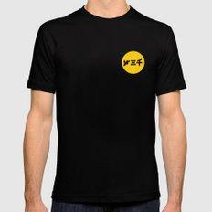 year3000 - Yellow Circle Logo Stencil Mens Fitted Tee Black MEDIUM