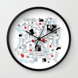 Crooked Lines And.Boxes Wall Clock
