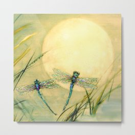 Dragonfly Moon  Metal Print