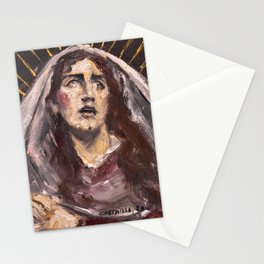 Mary Magdalene at the Foot of the Cross Stationery Cards