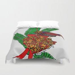Little Bird In Evergreen Boughs Duvet Cover