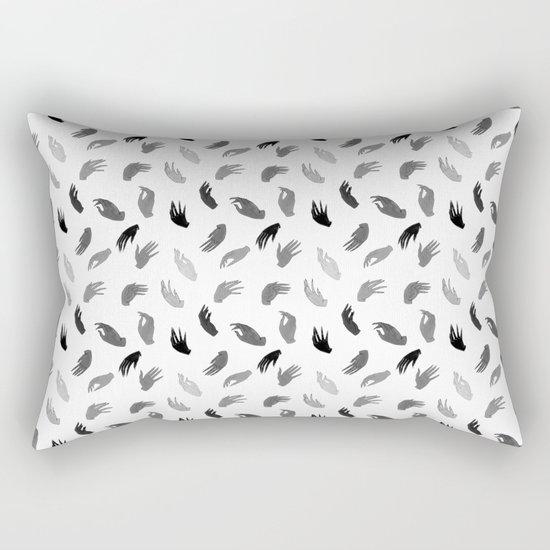 Hands B&W Rectangular Pillow